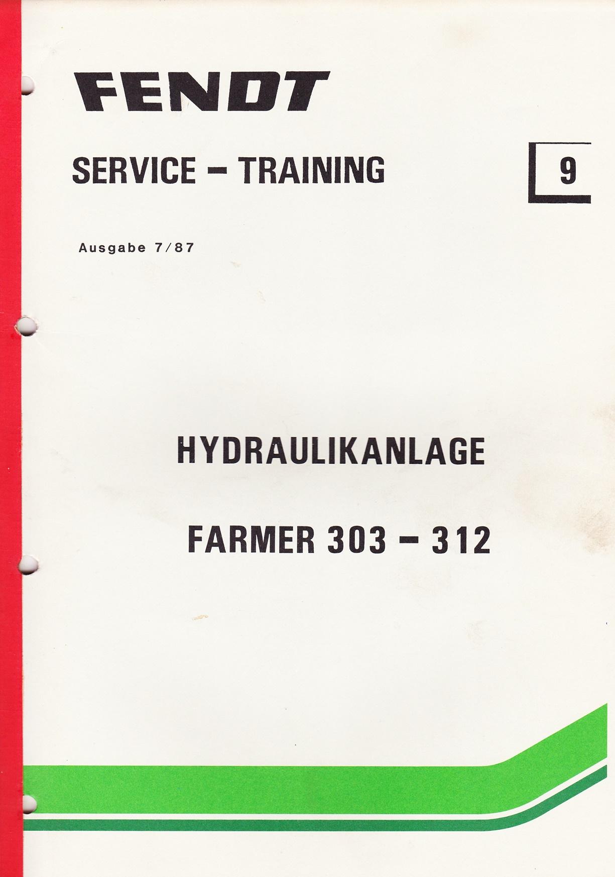 Fendt  Service und Training Nr. 9, Farmer 303 - 312