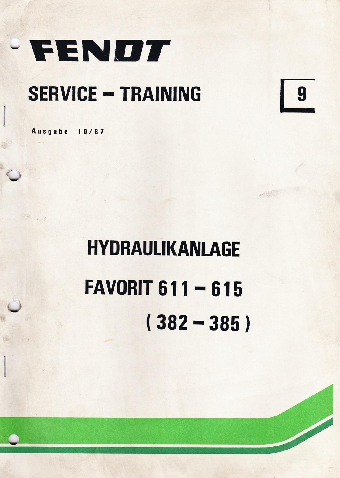 Fendt  Service und Training Nr.9, Hydraulikanlage Favorit 611 - 615
