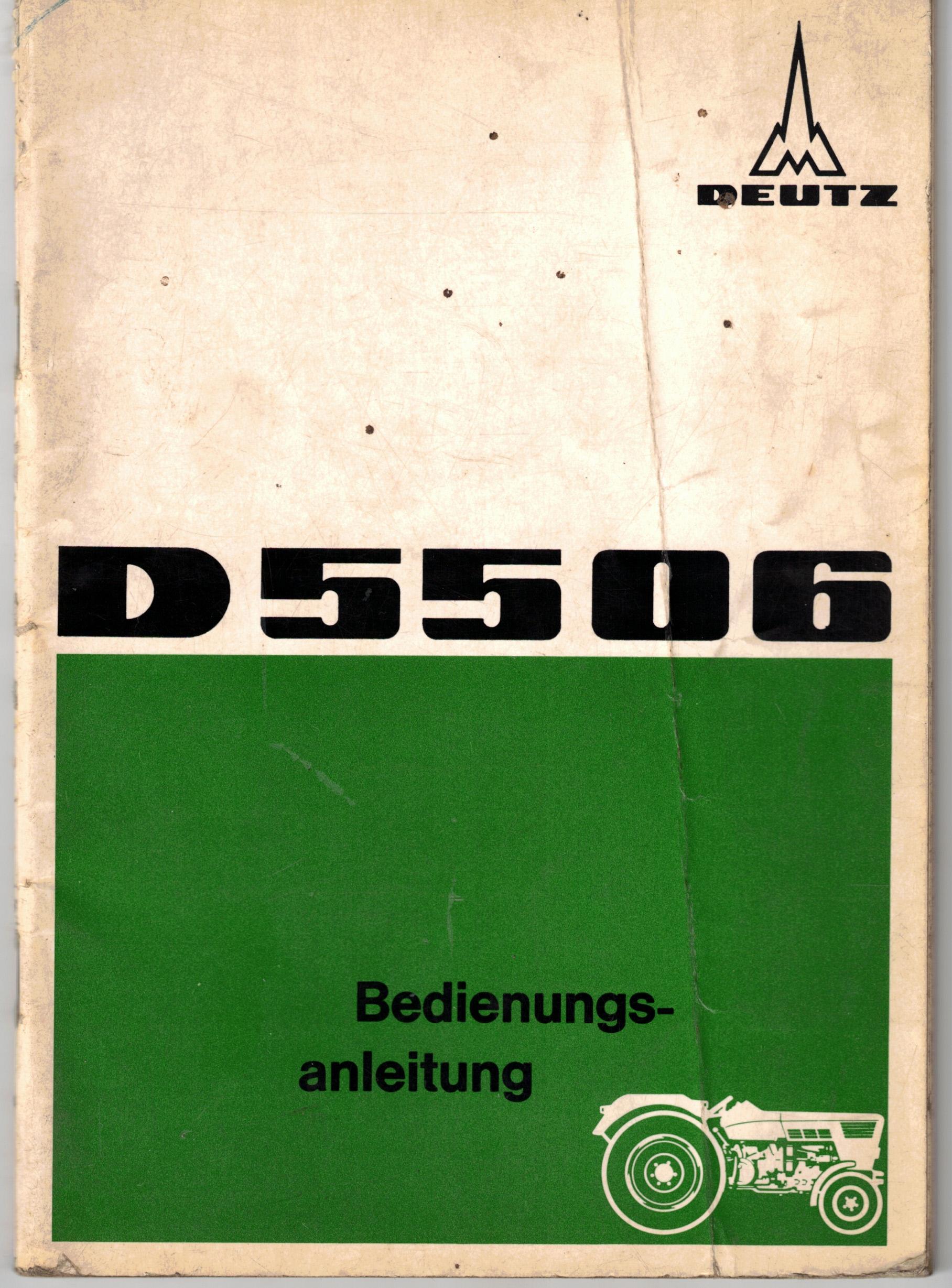 Bedienungsanleitung Deutz D 55 06